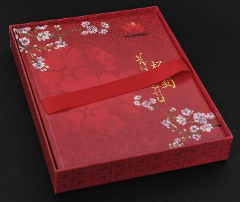 Red cardboard box, photo booklet size 8 x 10 inche