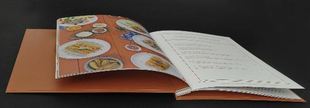 20-page food menu (10 sheets) , 