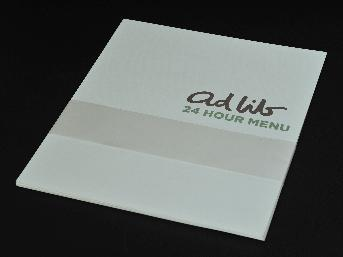 Sample food menu,   2-page digital printing
