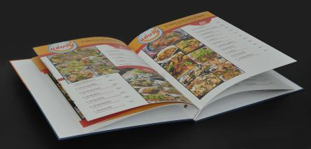 Food Menu, Art Paper, 2 pages, 310 gsm