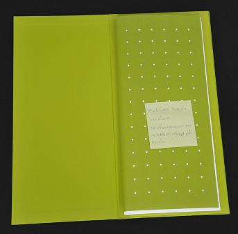 Food menu, stamping line