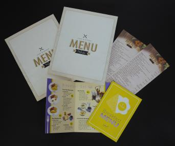 Food Menu is made of 3 types of 4-color printing.