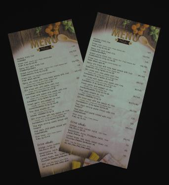 Long leaf menu (vertical)