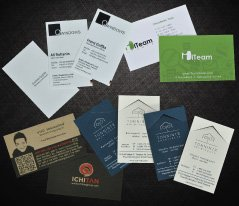 Sample Printed Business Card Gallery<p>